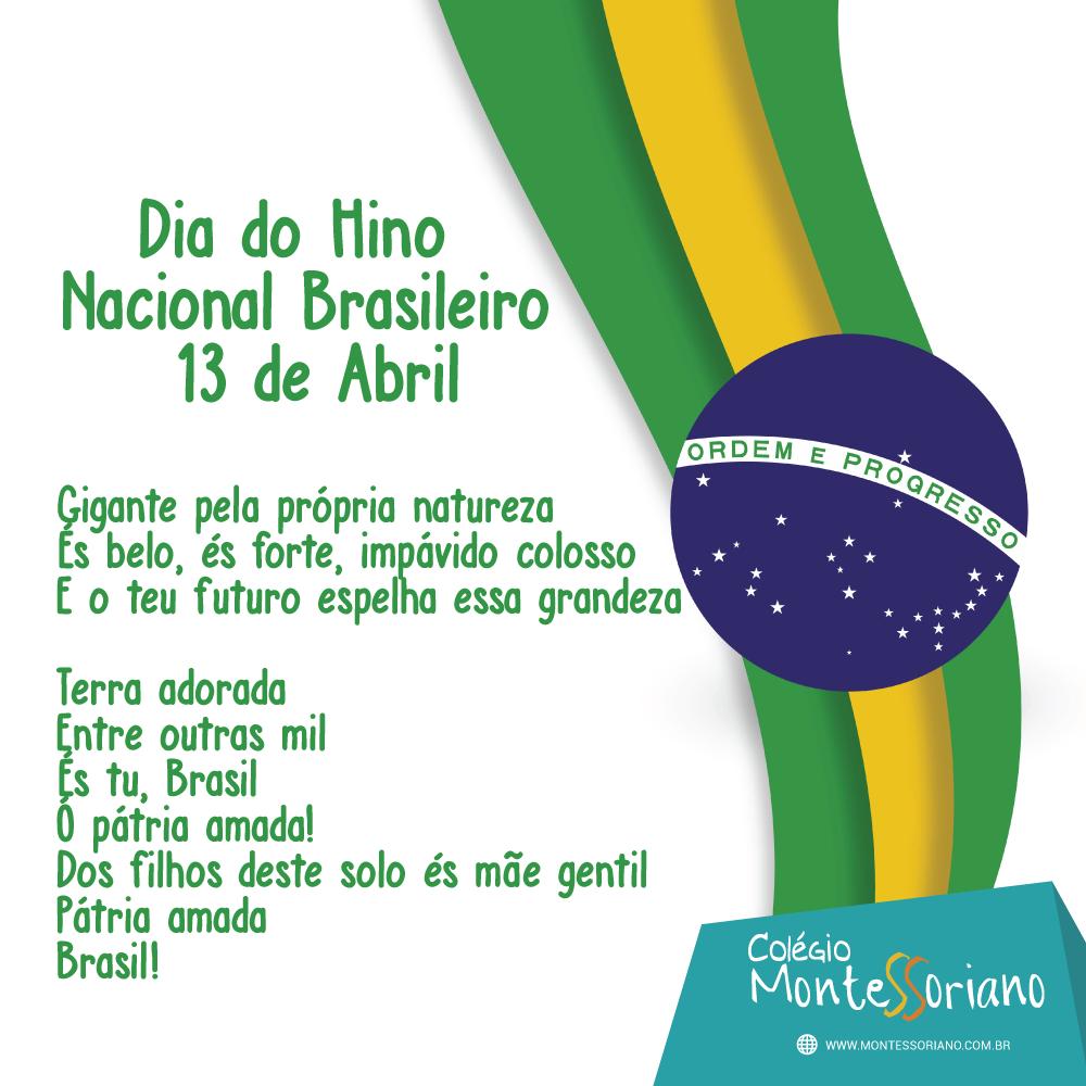 Suficiente Conheça a história do Hino Nacional Brasileiro – Colégio Montessoriano ZE25
